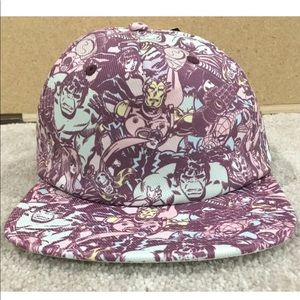 marvel flat bill hat one size